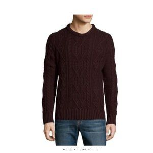 VINCE. Mens Wool Yak Cable Knit Pullover - Medium